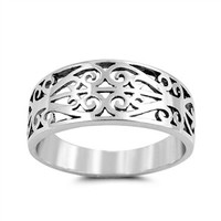 Sterling Silver Filigree Band Tailored