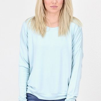 Lightweight French Terry Sweatshirt {L. Blue}