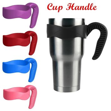 Portable Cup Handle Tumbler Handle For Yeti Rtic Ozark Trail 30 Oz Tumbler(Color:Black,Blue,Red,Pink,Purple)