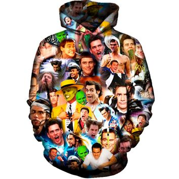 Jim Carrey Collage Hoodie