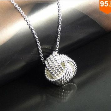 925 Silverrose Gold Women Pendant Collares Rose Ball Slide Fashion Gold Chain Necklaces Accessories Jewerly = 1946802180