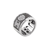 Grimoldi Women's Grimoldi White Gold I Love U Band Ring - Silver - Size 7.5