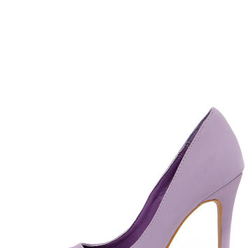 Make It Snappy Lavender Pointed Pumps