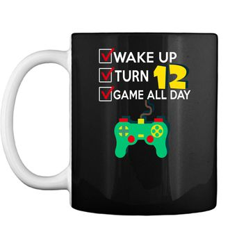 12 Yr Old Boy Game All Day Gamer Birthday Party Shirt Outfit Mug