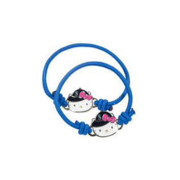 DCCKG8Q MLB Aminco Detroit Tigers Hello Kitty Bracelet and Hair Tie Set