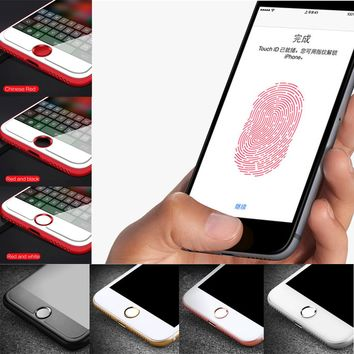 Del Home Button Sticker Button Fingerprint Indentification Touch ID for iPhone td816 dropship