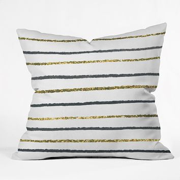 Social Proper Golden Black Throw Pillow
