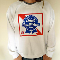 Vintage Men's Pabst Blue Ribbon (PBR) Sweatshirt