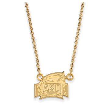 NCAA 14k Yellow Gold George Mason U Small Pendant Necklace