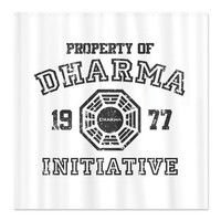 Property of Dharma Distresses Shower Curtain on CafePress.com