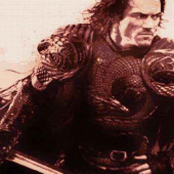 Dracula Untold Luke Evans Cross Stitch Pattern