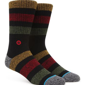 Stance Overdub Crew Socks - Mens Socks - Black - One