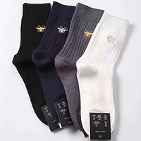 Dior Men Fashion Casual Sport 100% Cotton Socks+Gift Box