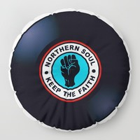 Northern Soul Vinyl Floor Pillow by inspiredimages