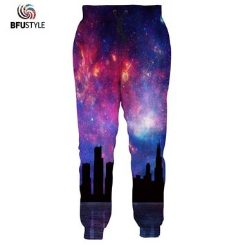 Space Galaxy Men Pants 2017 3D Print Joggers Male Casual Loose Sweatpants Sweat Pants Pantalones Mujer Brand Trousers Dropship