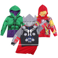 Kids Toddler Boys Superhero Autumn Hooded Coats Jackets Hoodies Jumper 2-8 Years = 5617055361