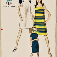 """Early 70's Vogue MOD Jumper with Under Dress Sz 14 Uncut FF """"Easy to Make"""" Vintage Vogue Fashion Sewing Pattern Supplies"""