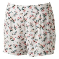 LBK Floral Soft Shortie Shorts - Juniors