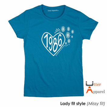 30th birthday party shirt 30th birthday gift for her, ladies crew neck t shirt, daughter, wife, sister, girlfriend female friend