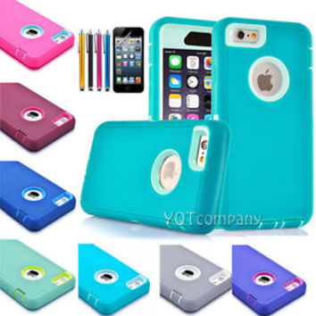 TPU Shockproof Rugged Hybrid Rubber Hard Cover Case For Apple iPhone 6 Plus 5.5""