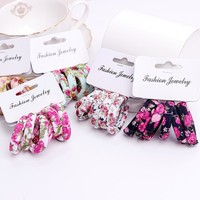 6PCS/Pack New Korean Cotton Print Hair Ropes Leopard