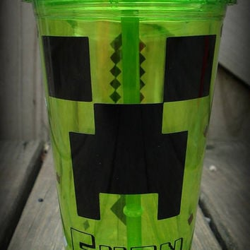 Custom Minecraft Tumbler, Minecraft Gift, Personalized Mine craft Cup, Minecraft Sword Cup