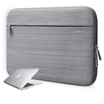 Tomtoc 13-13.3 Inch Macbook Pro Retina/ Air Sleeve Carrying Case Cover Business Laptop Portective Bag Briefcase for Most 13 Inch Notebook Ultrabook, Spill-Resistant, Gray
