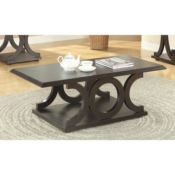 Coaster Company Furniture Cappuccino Coffee Table | Overstock.com Shopping - The Best Deals on Coffee, Sofa & End Tables