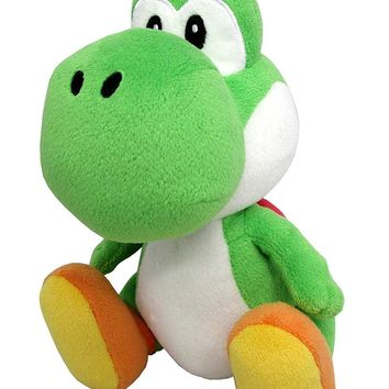 "Sanei Super Mario All Star Collection 8"" Yoshi Plush, Small"