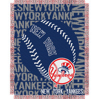 New York Yankees MLB Triple Woven Jacquard Throw (Double Play) (48x60)