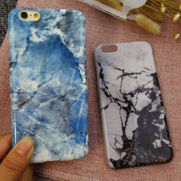 Newest Marble Stone Case Nano-materials Cover for iPhone 7 5s se 6 6s Plus + Free Gift Box 457