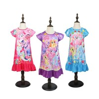 Cartoon Anime Fashion My Kids Girls Little Pony Cosplay Costumes Princess Dress Pajamas Baby Clothes Party Clothing