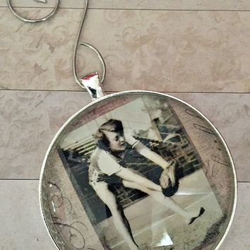Custom Photo Ornament - Brushed Silver