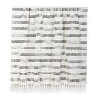 White Throw Blanket with Black Stripes - Threshold™