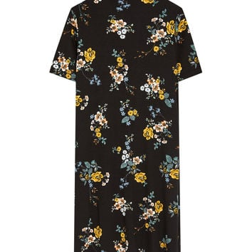 Short sleeve floral dress - Dresses - Clothing - Woman - PULL&BEAR United Kingdom