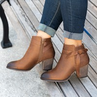 Bow Tan Distressed Faux Suede Boots