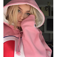 Champion Woman Men Fashion Hooded Top Sweater Pullover