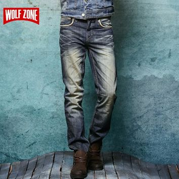 New Fashion Hole Jeans Men Robin Long Trousers Skinny Mens Pants Famous Brand Cotton