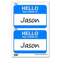 Jason Hello My Name Is - Sheet of 2 Stickers