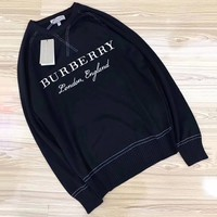 Burberry Woman Men Fashion Knit Wool Top Sweater Pullover