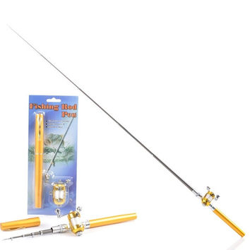 Mini Pocket Portable Aluminum Alloy Telescopic Pen Fishing Rod Pole = 1705705988