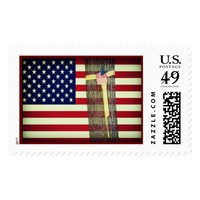 U.S.Postage Stamp - Yellow Ribbon & American Flag