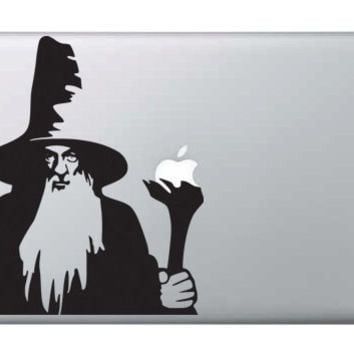 Gandalf the Grey - Macbook Vinyl Decal - Lord of the Rings - The Hobbit - Available in 17 Colours & Materials