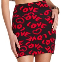 Love Graffiti Mini Skirt: Charlotte Russe