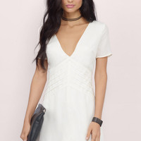 Tuck And Roll Skater Dress