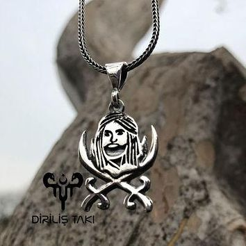 Zulfiqar swords and imam Ali pendant 925k sterling silver with chain necklace