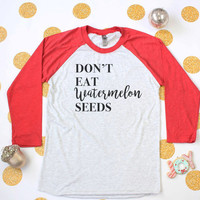Watermelon Seeds Funny Maternity Top