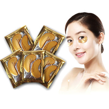 10  PCS Gold Crystal collagen Eye Mask Anti-Aging  Eliminates Dark circles and Fine Lines Face Care Skin care M01264