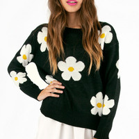 Daisy Knit Sweater $46