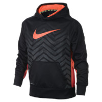 Nike KO 2.0 Swoosh Graphic Pullover Boys' Training Hoodie Size Large (Black)